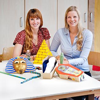 Elisa Ziegenbein und Melanie Beikirch