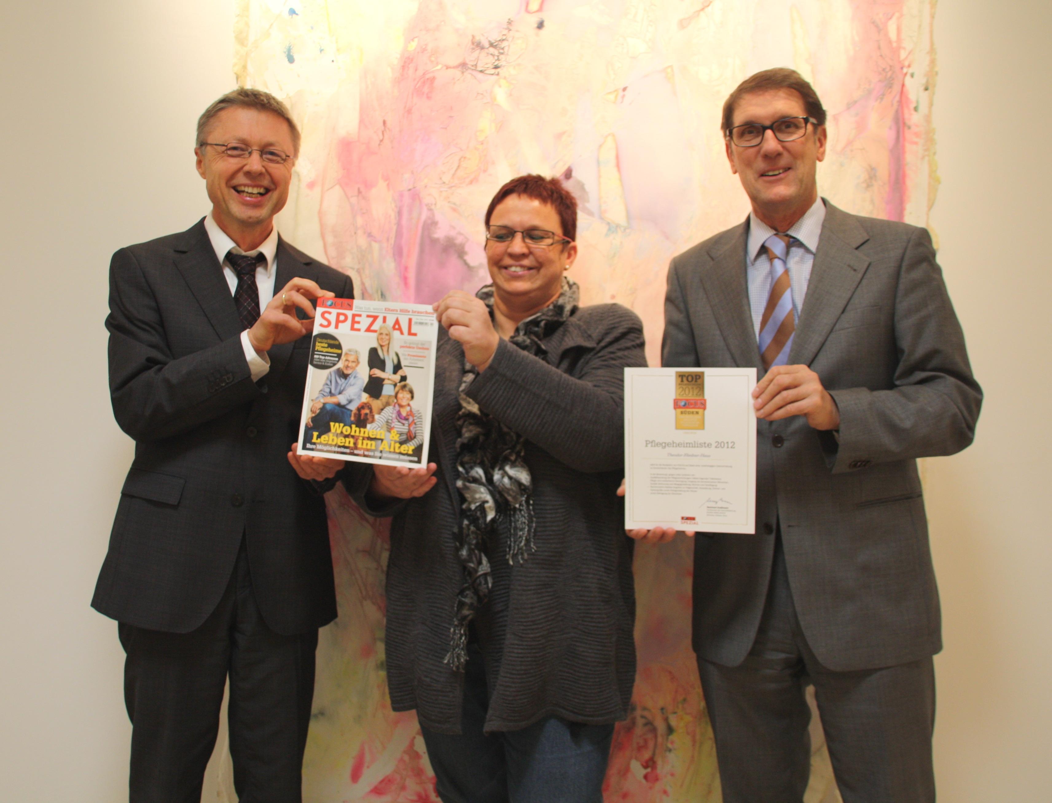 Theodor Fliedner Haus ist Top Pflegeheim 2012