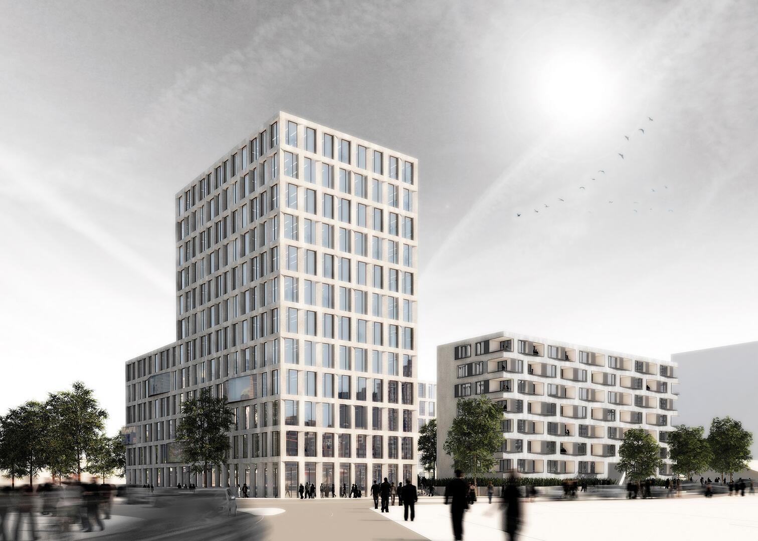 Gl ckstein quartier der architekturwettbewerb f r - Sacker architekten ...